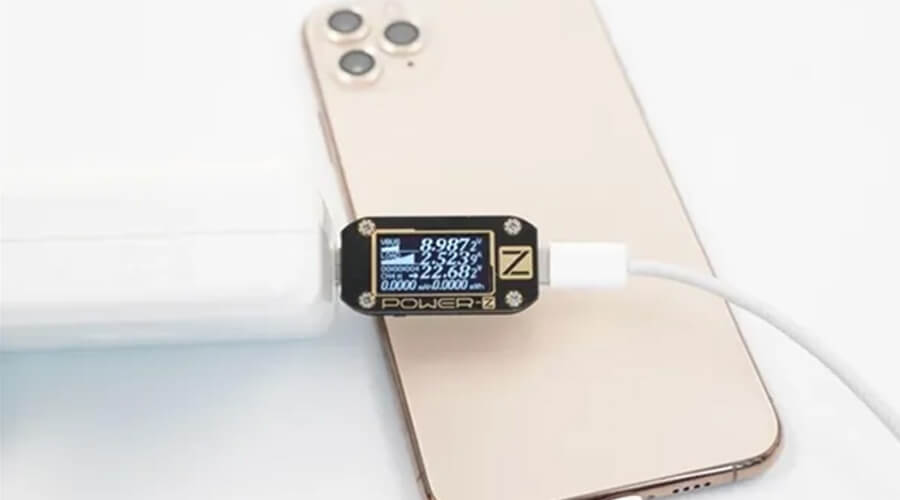 Use the Apple 96W PD Charger to charge the iPhone11 Pro Max, the power can reach the peak power of iPhone 11 Pro Max